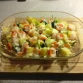 zapečená brokolice s bramborem - jen sýr