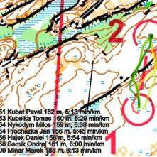 K2. – Směr jsem měl najitej již před K1. vybral jsem si volbu zleva prvního srázku a delší dobu běžet po vršku. Nevím jestli to bylo lepší nebo ne. Ale asi nastejno.